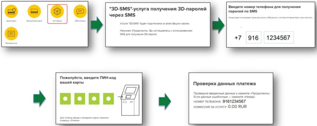 Как подключить 3д СМС в Россельхозбанке через терминал?